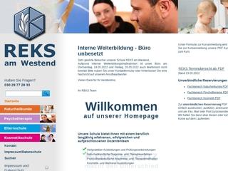 Vorschaubild der Webseite von REKS am Westend Schule für Naturmedizin u. Psychotherapie Elternschule, Kosmetikschule