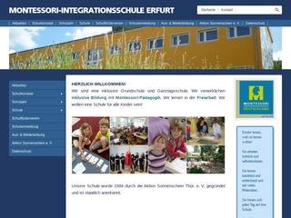 Vorschaubild der Webseite Integrative Montessori Kindertagesstätte