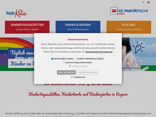 Vorschaubild der Webseite von Integrativer Montessori Kindergarten