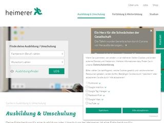 Vorschaubild der Webseite Sozialpflegeschulen Heimerer gGmbH