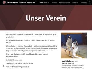 Vorschaubild der Webseite Hanseatischer Fechtclub Bremen e.V.