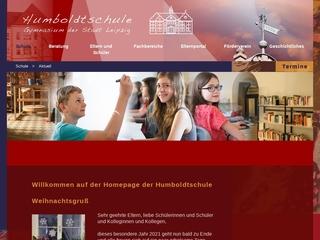 Vorschaubild der Webseite Humboldt-Gymnasium