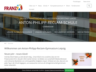 Vorschaubild der Webseite Anton-Philipp-Reclam-Gymnasium