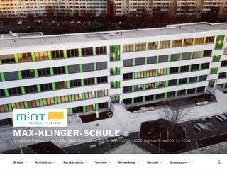 Vorschaubild der Webseite Max-Klinger-Schule-Gymnasium