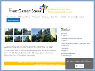 Vorschaubild der Webseite Schule für Lernförderung Fritz Gietzelt