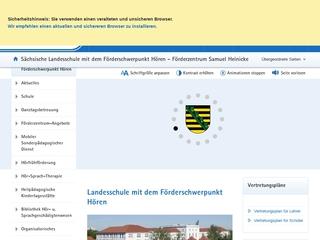 Vorschaubild der Webseite Sächsische Landesschule für Hörgeschädigte Leipzig Förderzentrum Samuel Heinicke