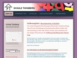 Vorschaubild der Webseite Schule Thonberg - Förderschule für geistig Behinderte