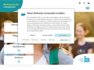 Vorschaubild der Webseite IB Medizinische Akademie - Berufsfachschule für Logopädie