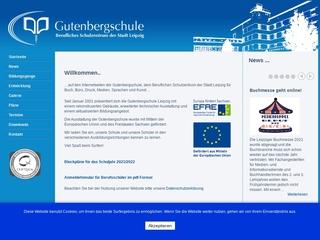 Vorschaubild der Webseite Gutenbergschule - Berufliches Schulzentrum der Stadt Leipzig