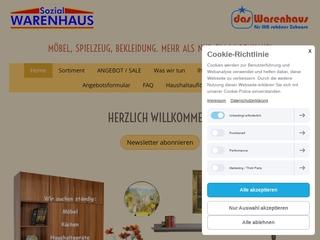 Vorschaubild der Webseite Sozialwarenhaus