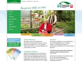 Vorschaubild der Webseite von Ökumenische Sozialstation Leipzig e.V.