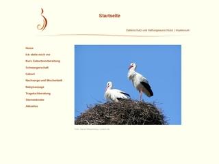 Vorschaubild der Webseite Hebamme Dorit Trögel