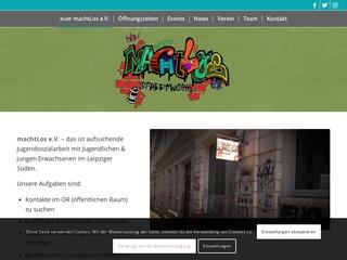 Vorschaubild der Webseite MachtLos e.V. - StreetworkerInnen-Büro