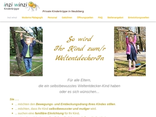 Vorschaubild der Webseite Kinderkrippe inzi winzi