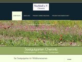 Vorschaubild der Webseite Nachhall e.v.