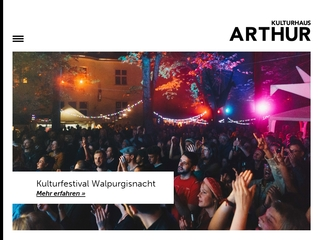 Vorschaubild der Webseite von Arthur e. V.