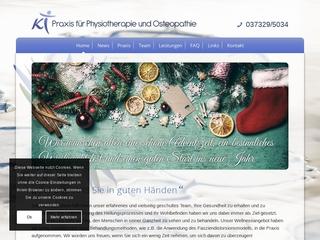 Vorschaubild der Webseite Praxis für Physiotherapie Katja Tscherny