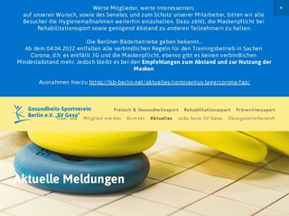 Vorschaubild der Webseite Gesundheits-Sportverein Berlin e.V.
