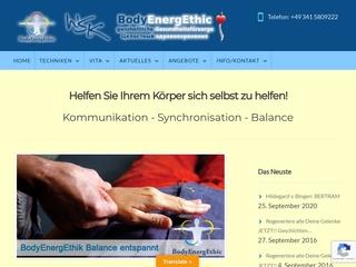 Vorschaubild der Webseite von BodyEnergEthic Leipzig