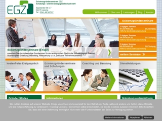 Vorschaubild der Webseite Existenzgründerzentrum EGZ Schulungs- und Beratungsgesellschaft mbH