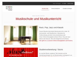 Vorschaubild der Webseite Musikschule Neue Musik Leipzig