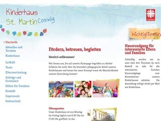 Vorschaubild der Webseite Christliches Kinderhaus St. Martin