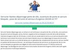 Serrurier Nantes 06.22.50.80.31 dépannage serrurerie 7j/7