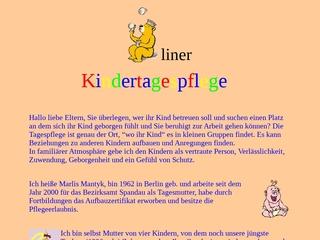Vorschaubild der Webseite von Tagesmutter
