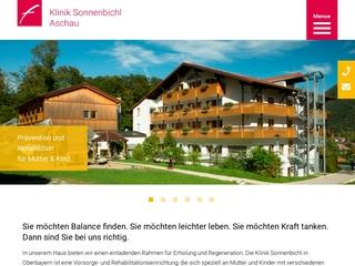 Vorschaubild der Webseite Mutter-Kind-Kurhaus Klinik Sonnenbichl