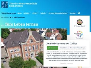 Vorschaubild der Webseite Theodor-Heuss-Realschule Sigmaringen