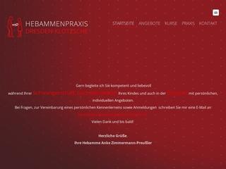 Vorschaubild der Webseite von Hebamme Anke Zimmermann-Preußler