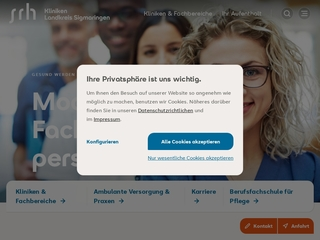 Vorschaubild der Webseite SRH Fachpflegeheim Annahaus