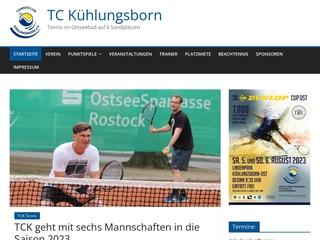 Vorschaubild der Webseite Tennisclub Kühlungsborn e.V.