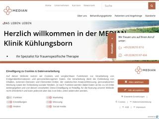 Vorschaubild der Webseite Ostseeklinik Kühlungsborn