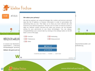 Vorschaubild der Webseite Kindertagesstätte Kleine Füchse