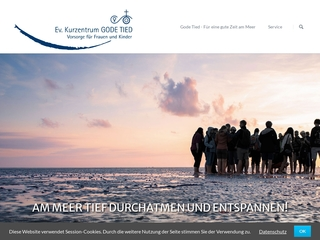 Vorschaubild der Webseite Ev. Kurzentrum und Sanatorium Gode Tied