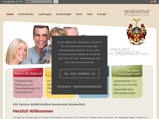 Vorschaubild der Webseite von HUMANITAS Pflegeservice GmbH