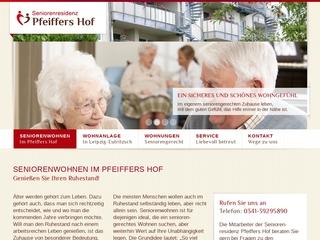 Vorschaubild der Webseite Service-Wohnanlage Pfeiffers Hof