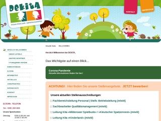 Vorschaubild der Webseite Kindertagesstätte Fuchs und Elster