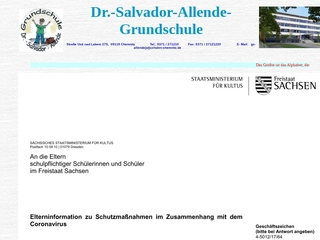 Vorschaubild der Webseite von Dr.-Salvador-Allende-Grundschule