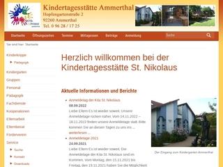 Vorschaubild der Webseite Kindertagesstätte Ammerthal