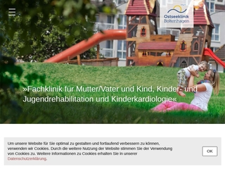 Vorschaubild der Webseite von Ostseeklinik Boltenhagen