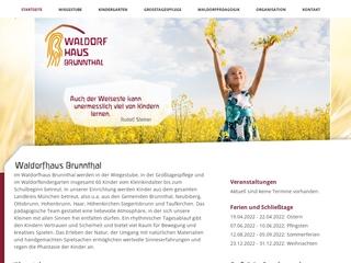 Vorschaubild der Webseite Kindertagesstätte Waldorfhaus Brunnthal