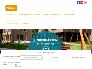 Vorschaubild der Webseite Kindertagesstätte  Waldgeister am Steintisch