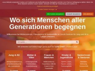 Vorschaubild der Webseite von ZenJA - Zentrum für Jung und Alt