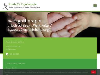 Vorschaubild der Webseite Praxis für Ergotherapie Silke Währisch + Anke Oehmischen