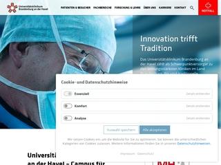Vorschaubild der Webseite Klinikum Brandenburg