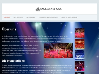 Vorschaubild der Webseite Kinder- und Jugendzirkus KAOS der Kindervereinigung Dresden e.V.