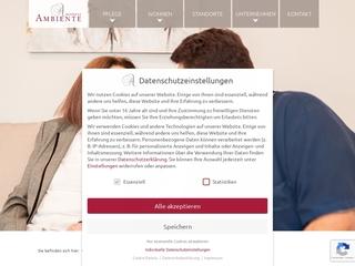 Vorschaubild der Webseite Residenz Ambiente