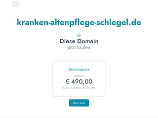 Vorschaubild der Webseite von Häusliche Kranken- und Altenpflege Schw. Renate Schlegel